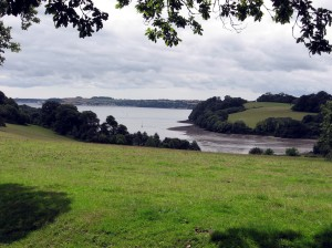 view from the grounds towards the Carrick Roads