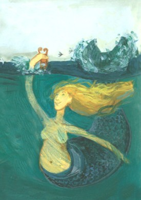 illustration (c) Flora McDonnell from Ted Hughes' 'The Mermaid's Purse'