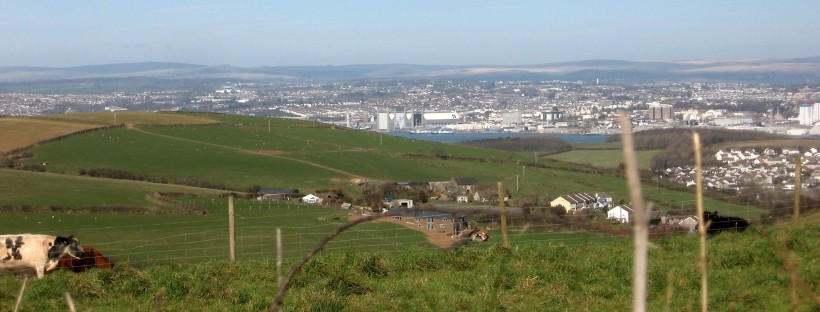 View north from Freathy towards Plymouth (c) Merryn Robinson