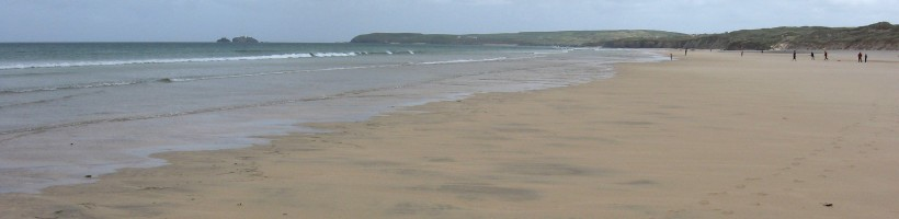 Godrevy from Hayle-Gwithian beach