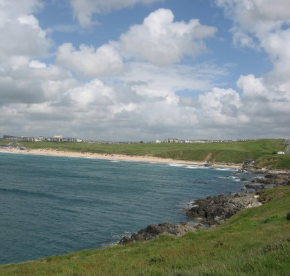 Fistral Bay from Pentire Point East
