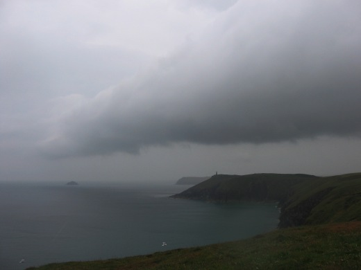 view from Gunver Head towards Stepper Point and Pentire Point