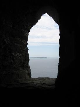 Trevose Head from inside Stepper Point daymark