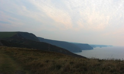 view south-west towards Tintagel Head