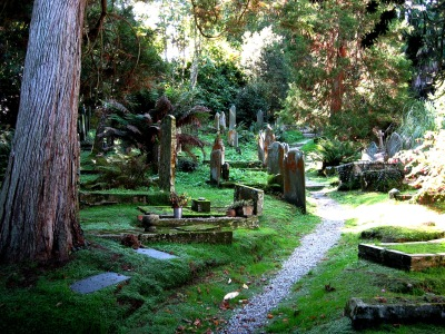 St Just in Roseland churchyard