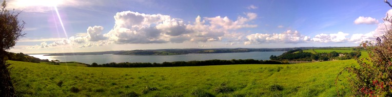 River Fal estuary view St Just St Mawes Falmouth