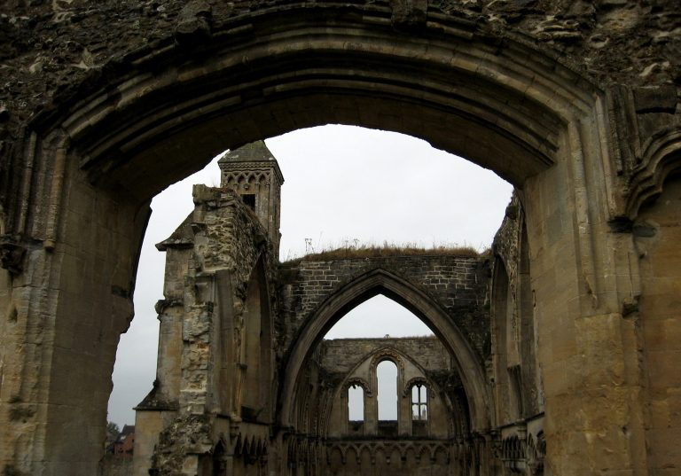 Glastonbury Abbey ruins galilee Lady chapel