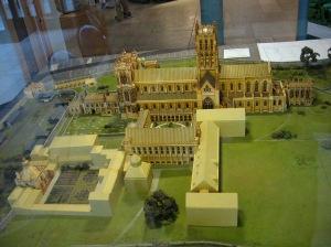 Glastonbury Abbey scale model