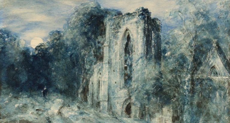 John Constable Netley Abbey by Moonlight painting